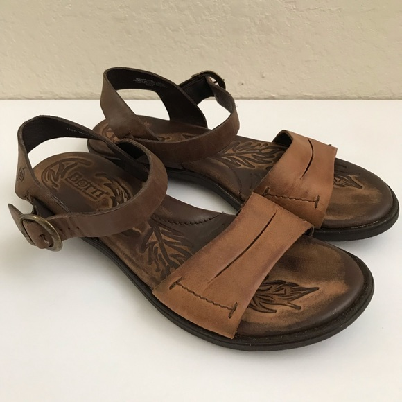 5f529d13dba7 Born Shoes - Born  Ebb  Camel Brown Comfort Ankle Strap Sandals